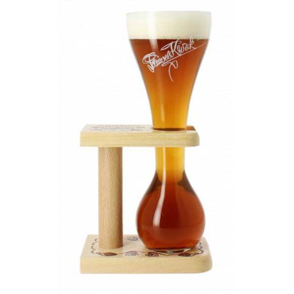 Verre à bière Kwak + pied en bois 33 cl