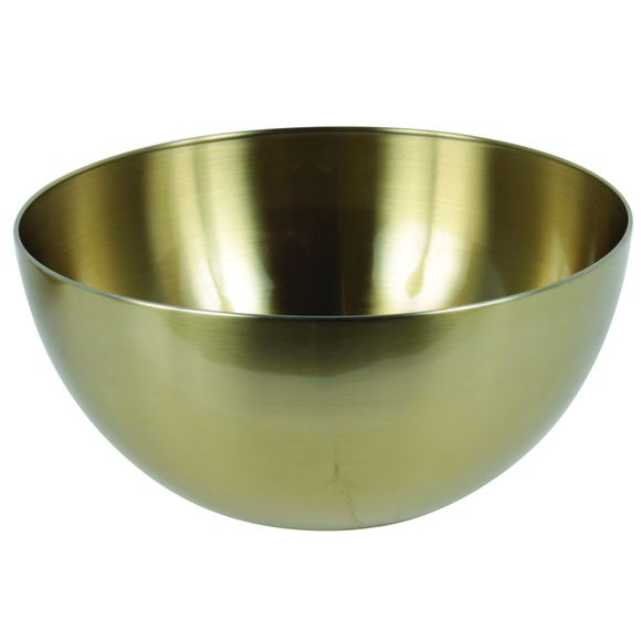 Insalatiera in acciaio inox, oro, Ø24cm