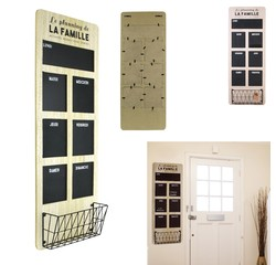acquista online Organizzatore settimanale legno e ardesia 30x80cm