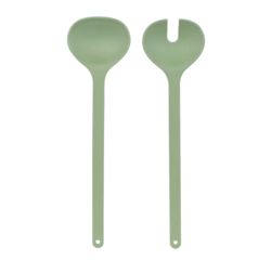 acquista online Set posate per insalata Nordic in melamina e bamboo, verde