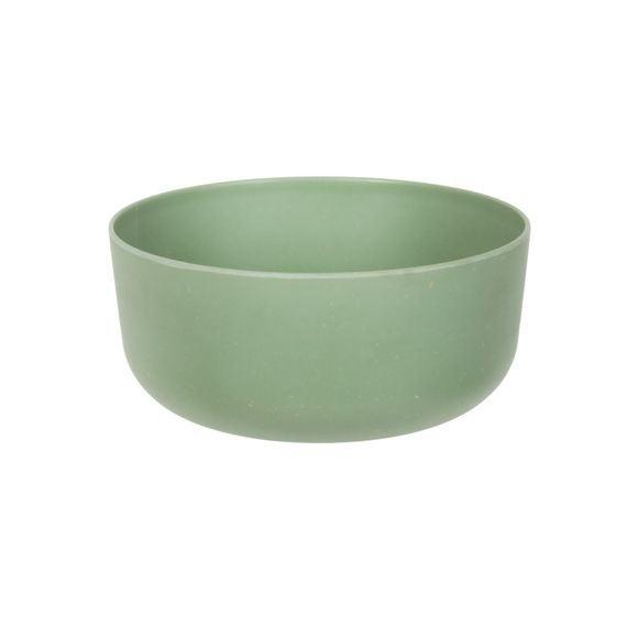 Insalatiera in melamina e bamboo, verde, Ø18cm