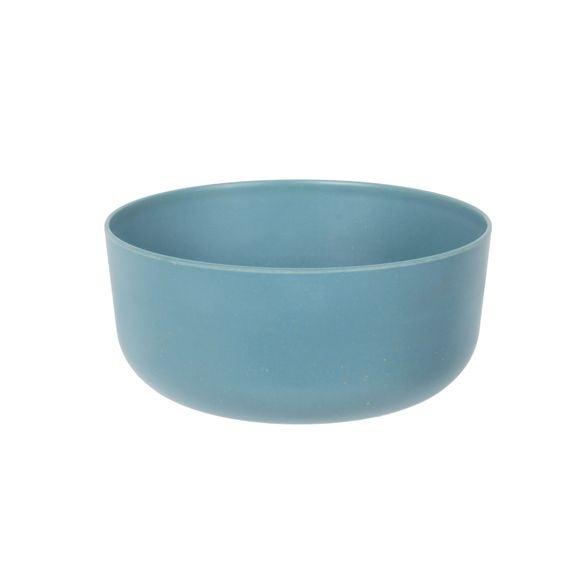 Insalatiera in melamina e bamboo, azzurro, Ø24cm