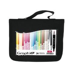 Achat en ligne trousse de 24 marqueurs Basic colors Graph'it