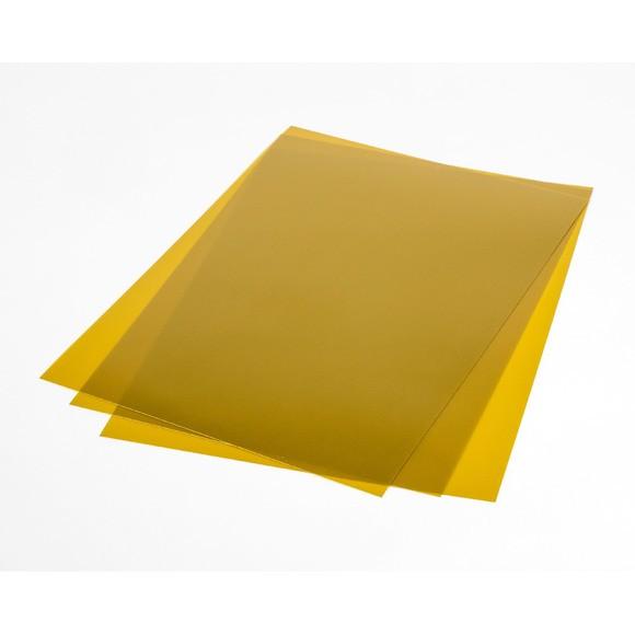7 Feuilles de plastique fou or