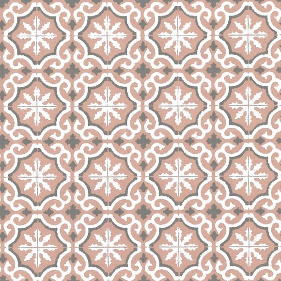 Achat en ligne Feuille papier carreaux de ciments rose poudré 50x70cm