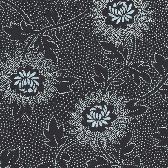 Achat en ligne Feuille de papier fleurs noir et gris 50x70cm 100g
