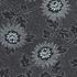 Feuille de papier fleurs noir et gris 50x70cm 100g