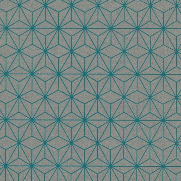 Achat en ligne Feuille de papier géomtrique gris turquoise 50x70cm 100g