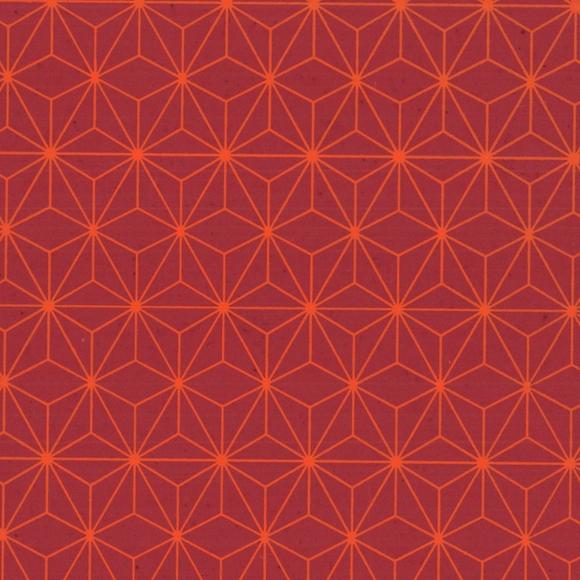 Achat en ligne Feuille de papier géomtrique rouge orange 50x70cm 100g