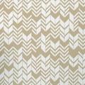 Feuille décorative à chevrons blanc et gris 50x70cm