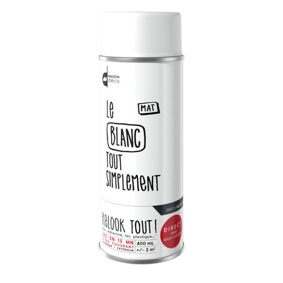 Achat en ligne Peinture aérosol mat blanche Relook tout en bombe 400ml