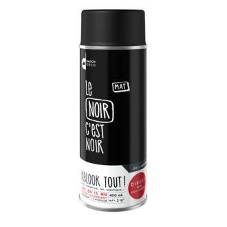 Peinture aérosol mat noire Relook tout en bombe 400ml