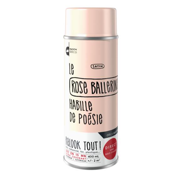 Achat en ligne Peinture aérosol satin rose Relook tout en bombe 400ml
