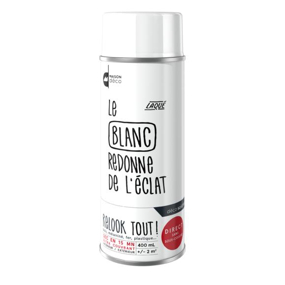 Achat en ligne Peinture aérosol blanche Relook Tout en bombe 400ml