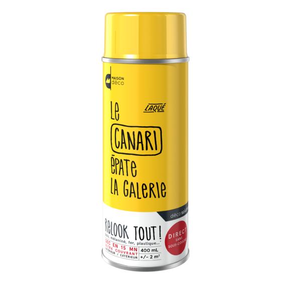 Achat en ligne Peinture aérosol canari Relook Tout en bombe 400ml