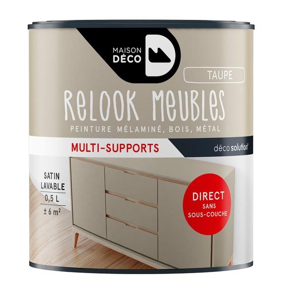 Achat en ligne Peinture pour meuble taupe Relook meuble en pot 0,5l