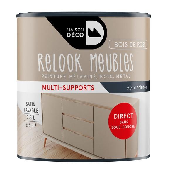 Achat en ligne Peinture bois de rose pour meuble Relook meubles 0,5L