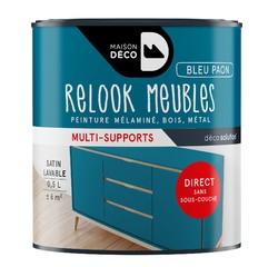 Achat en ligne Peinture pour meuble bleu paon Relook meuble en pot 0,5l