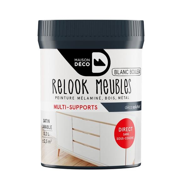 Peinture pour meuble blanc bouleau Relook meuble en pot 0,2l