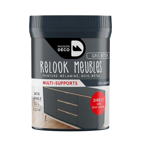 Achat en ligne Peinture pour meuble gris béton Relook meuble en pot 0,2l