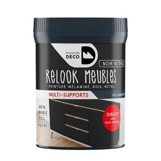Peinture pour meuble noir intense Relook meuble en pot 0,2l