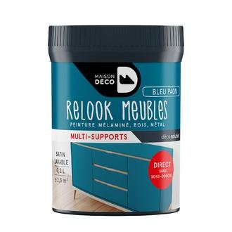 Peinture pour meuble bleu paon Relook meuble en pot 0,2l