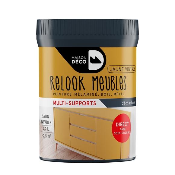 Achat en ligne Peinture pour meuble jaune vintage Relook meuble en pot 0,2l