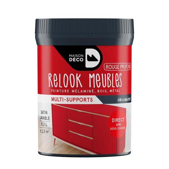Peinture pour meuble rouge profond Relook meuble en pot 0,2l