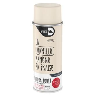 Peinture en bombe relook tout satin vanille 400ml