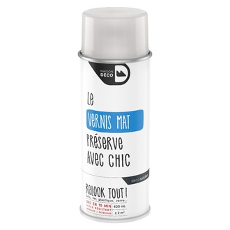 Peinture en bombe relook tout vernis mat 400ml