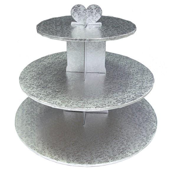 Présentoir à 3 étages pour gâteaux en aluminium Gatodeco