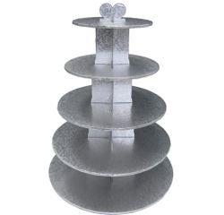 Achat en ligne Présentoir à 5 étages pour gâteaux en aluminium Gatodeco