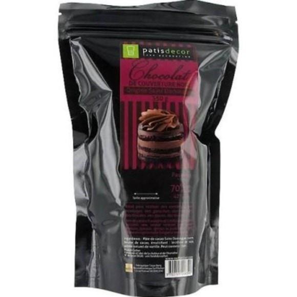 compra en línea Chocolate negro de cobertura de Santo Domingo en virutas (250 gr)
