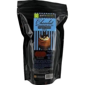 Chocolat de couverture noir de ghana en pistoles 250g