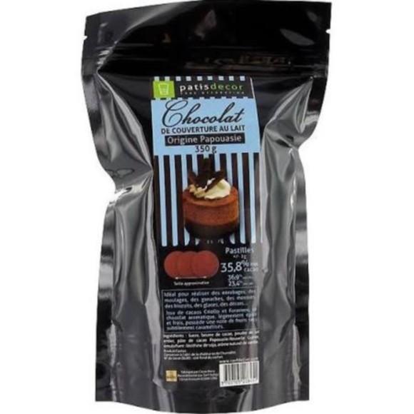 Chocolat de couverture au lait de Papouasie  pistoles 250g
