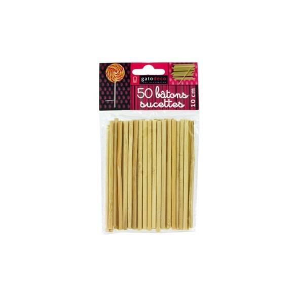 Lot de 50 bâtons à sucette Pas cher - Zôdio d55e3e32abbc