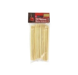 compra en línea Set 50 palillos de madera para manzana caramelizada (15 cm)