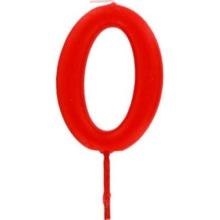 Achat en ligne Bougie d'anniversaire chiffre 0 rouge
