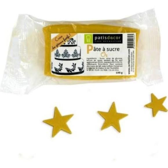 Pâte à sucre or aromatisée vanille 100g