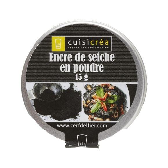 Achat en ligne Pot d'encre de seiche en poudre Cuisicrea 15g