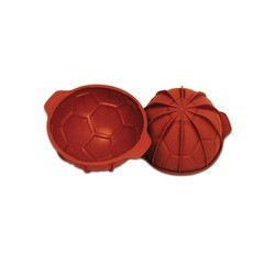 compra en línea Molde 3D balón de fútbol de silicona Silikomart (23 x 11 cm)