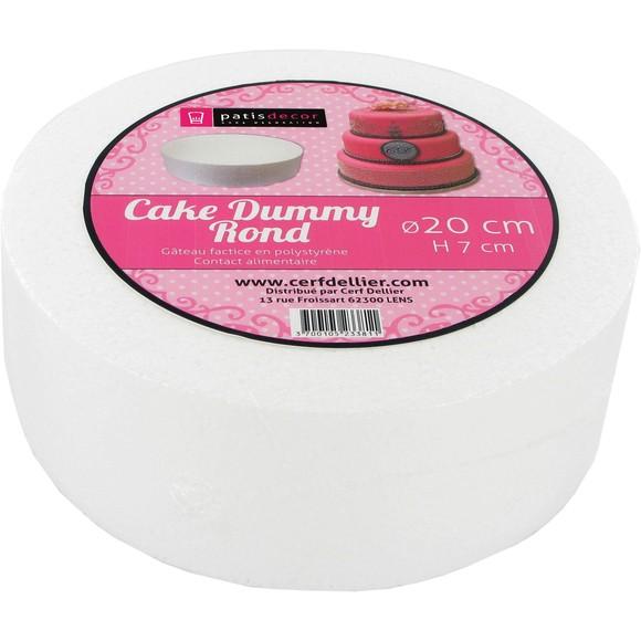 Achat en ligne Cake dummie rond en polystyrène 20x7cm
