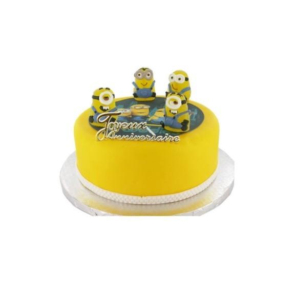 Sujets décoratifs pour gâteau minions en plastique