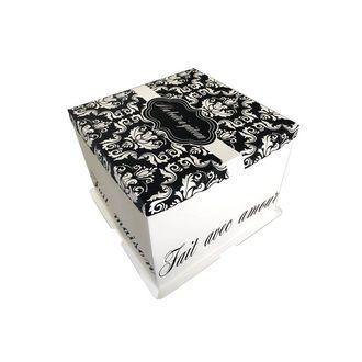 Boite à gâteaux imprimée 26x26x24cm