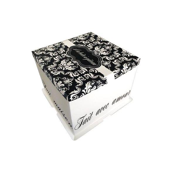 Scatola con stampa per torte 26x26x24 cm