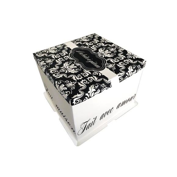 Boite à gâteaux imprimée 36x36x28cm