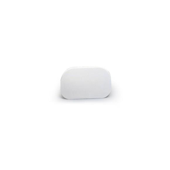Spatola arrotondata morbida di plastica bianca 145 * 95 mm
