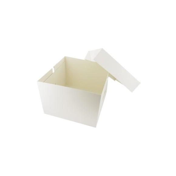 compra en línea Caja transportadora de cartón blanco Patisdecor (31 x 31 x 20 cm)