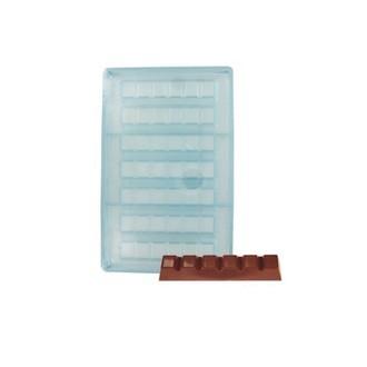 Moule à chocolat 7 barres en polycarbonate