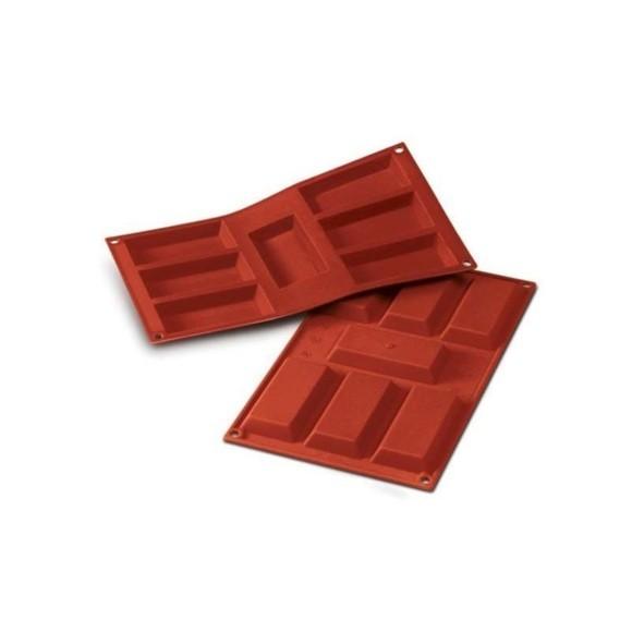 Stampo in silicone per 7 plumcake 9,5x4,5cm